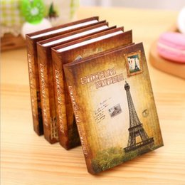 Wholesale Memo Pad Vintage - New Fashion Hard Cover Vintage World series Memo Notepad Sticky note Writing scratch pad office school supplies Wholesale