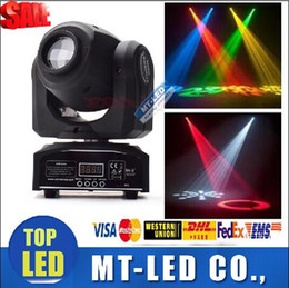 Wholesale Stage Light Moving Heads - LED 8colors 10W 30W spots Light DMX Stage Spot Moving 8   11 Channels Mini LED Moving Head follow lighting for DJ Effect lights Dance Disco