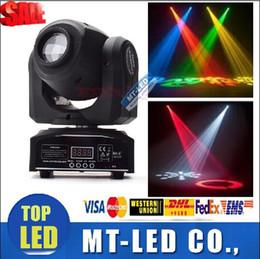 Wholesale Dmx Moving Light - LED 8colors 10W 30W spots Light DMX Stage Spot Moving 8   11 Channels Mini LED Moving Head follow lighting for DJ Effect lights Dance Disco