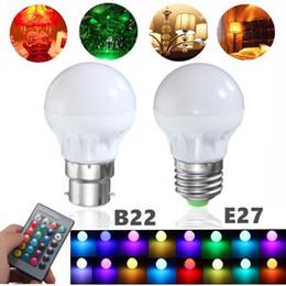 Canada RGB LED ampoule E27 B22 3W 16 couleurs changeantes lampe magique spotlight ampoule IR télécommande éclairage de vacances décor nouveau 85-265V cheap ir led light bulbs Offre