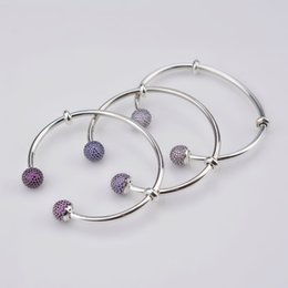 Wholesale Pandora Imitation - DORAPANG 2017 NEW The Latest MOMENTS 925 Sterling Silver Double-Headed Beads Pattern Bangle DIY Pandora Bracelet Charms Gift For Women 8040