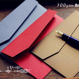 Wholesale Stationery Items For Gift - Wholesale-European Style Vintage Retro Thicken Paper Envelope For Business Wedding Novelty Item Gift Korean Stationery Free Shipping 819