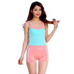Wholesale Covering Belly Swimsuit - Bathing Suit Beach Wear Korean version of the sporty swimsuit female boxer split swimsuit cover belly hot springs bathing suit students