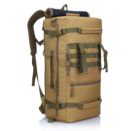 Wholesale Military Tactical Rucksack Backpack - 2016 Hot Military Tactical Backpack Outdoor Sport rucksack Hiking Camping Men Travel Bags Camouflage Laptop Backpack Local lion