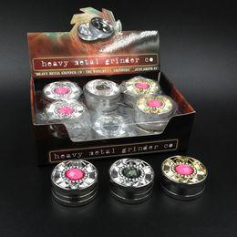 Wholesale Diamond Ecig - colorful diamond grinder tobacco smoking metal grinders herbal tobacco cnc teeth filter net for ecig water bongs (14006)