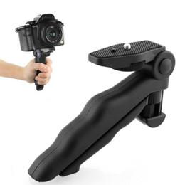 Wholesale Handheld Camera Tripod - Hot High Quality Portable Flexible 2 in 1 Handheld Grip Mini Tripod Stand for Digital Camera Camcorder MOQ:5PCS