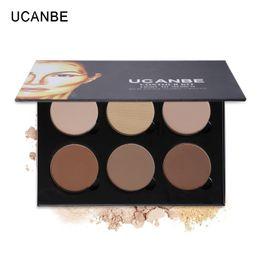 Wholesale Sharp Media - UCANBE Makeup Highlighter Bronzer Glow Kit 6Color Powder Contour Palette Light Medium Contouring Highlighting Shading Face Sharp