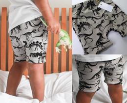 2019 baby rüsche blüht rosa Heiße Sommer Jungen Mädchen Shorts PP Hosen Baumwolle Dinosaurier Für Kinder Pluderhosen Kleidung Neue Mode Kind Kleidung 12217