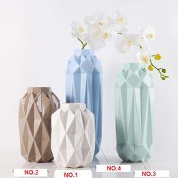 Wholesale Craft Ceramics - Flower vase ceramic crafts 4pcs lot of creative modern minimalist style living room decoration ornaments wholesale