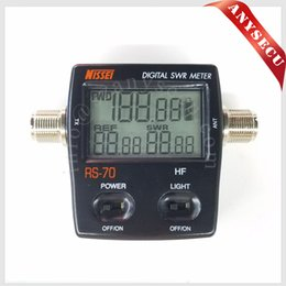 Wholesale Power Swr - New Launch frequency meter NISSEI RS-70 Digital SWR Power Meter HF 1.6-60MHz 200W M Type Connector SWR Power Meter for Two-way Radio