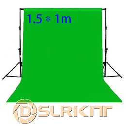 Wholesale Green Muslin Backdrop - Wholesale- 1.5X1M Photo lighting studio Chromakey green screen Muslin background backdrop