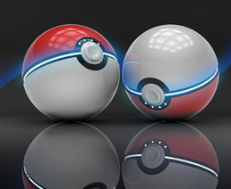 Wholesale External Battery Back Up - Wholesale pokeball power bank for poke Go Dual USB External Battery 12000mah Fast back up chargers for pocket monster Poke ball powerbank