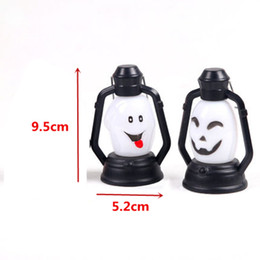 Wholesale Witch Lantern - Halloween Decoration Party Accessories Portable Lantern Small Night Light Pumpkin Skull Witch Ghost Horrible Hanging Led Light Lamp