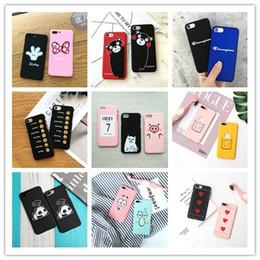 2019 iphone 5s case ours Pour iPhone X XS 8 7 6 6 s plus 6plus 7plus 5 5s cas Kawaii 3D Dessin Animé Mignon Chat Sourire Ours Couverture De Cas promotion iphone 5s case ours