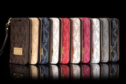 Wholesale Back Pocket Iphone Cases - For Iphone X Iphone 8 Plus Wallet Case For Galaxy S8 Plus Note 5 PU Leather Cases Iphone 7 6 6S Plus S7 S7Edge Case Wallet Back Cover