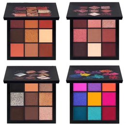 Wholesale Hot Makeup Styles - New Hot Beauty Cosmetics Palette makeup palettes 9 color eyeshadow palette 4 Style eyeshadow DHL shipping+Gift