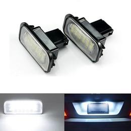 Wholesale Mercedes Plates - 2pcs 18 LED Error Free Number License Plate Light Car Bulbs Fit For Mercedes Ben z W203 C240 C230 C55 AMG C320 C350 C280 C43 C32