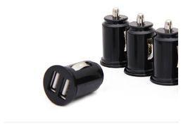 Wholesale Micro Usb Car Bullet - Universele bullet dual usb 2-Port mini sigarettenaansteker lader, 5 v 2.1a autolader power adapter gratis verzending car charger