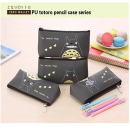 Wholesale Cheap Totoro - Wholesale-pen box pouch bag bags school canvas Korea cute cheap art supplies stationery totoro pencil vintage stationery students anime