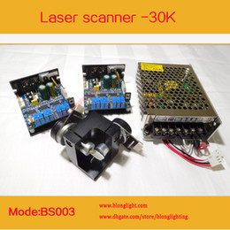 Wholesale Optical Stages - DHL Shipping High quality dielectric mirrors 30KPPS Laser scanner and Optical scanner with+ -18V Power Supply for Pro Stage Laser Light