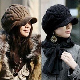 Wholesale Tie For Women Sale - Hot sale!2016 new autumn and winter women knitted wool hat warm cap wholesale designer beanies MZ-14 for women free shipping