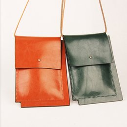 Wholesale Cowhide Stones - New style oil wax cow leather coin and mobile phone bags fashion cowhide women bag cross-body mini bags CH800067