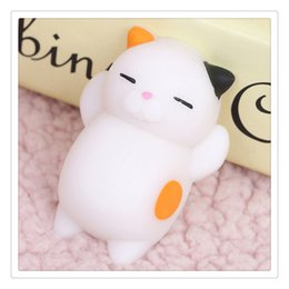 Wholesale Key Case Doll - New 3D Cat Squishies Mini Squeeze Toy Cat Squishy Kawaii Doll Squeeze Stretchy Animal Healing Stress Hand Fidget Toys Cellphone Case Chains