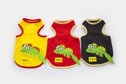 Wholesale Pets Lizards - Y91 2016 Fashion Pet Vest Clothes Puppy dog lizard pattern cotton T-shirt Vest Clothing Summer pet supplies products Free shipping