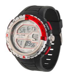 Wholesale Wrist Watch Jade - ALIKE AK1388 Mens Wrist Watch LCD Digital Analog Quartz Sport Wristwatch with Red, Gray, Blue, Orange, Black color