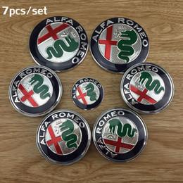 Wholesale Gt Free - 7pcs Free shipping 74mm new ALFA ROMEO for Mito 147 156 159 166 Giulietta Spider GT Car Logo emblem Badge sticker