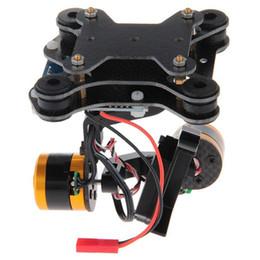 Wholesale Camera Mount Ptz - CNC Metal Brushless Camera Gimbal Mount Motor PTZ for Gopro Hero 2 3 3+ Black