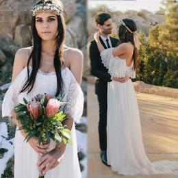 f1643aa62c 2017 Beach Wedding Dresses For Pregnant Women Lace Chiffon Bohemian Wedding  Dress Empire Waist A Line Wedding Bridal Gowns Cheap