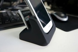 Wholesale Dock Usb Cradle Galaxy S4 - Free Shipping Dual USB Sync Charger Battery Charging Dock Cradle for Samsung Galaxy S4 i9500