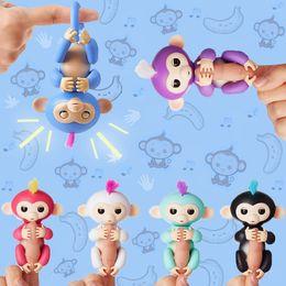 Wholesale Monkey Lovely - Lovely WowWee Fingerlings Interactive Baby Monkey Finger Toys Electronic Smart Touch Fingerlings Monkey For Kids Child As Halloween Gift