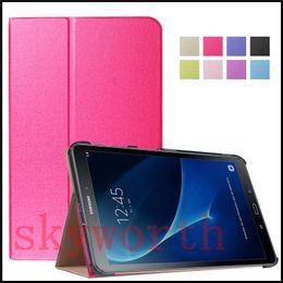 Wholesale china j - Folio Flip 3 Folder leather case Ultra Slim Cover for Samsung Galaxy tab A J t580 T280 T550 Huawei M2 LG