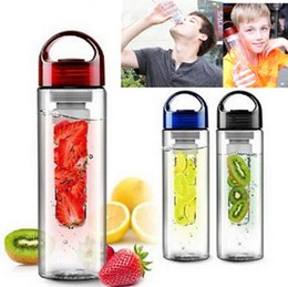 Wholesale Fast For Health - 700ML Fruit Infuser Water Bottle for Sports Health Juice Maker Best BPA Free 3Colors Lemon Bottles 120pcs Fast Way DHL CPA004