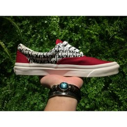 Wholesale Wholesale Lace Up Canvas Shoes - Fear Of God x PacSun Era 97 Reissue Canvas Shoes Mens Womens Casual Shoes ERA 97 Red Black Skateboarding Boots Sneakers