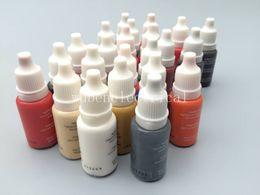 Kit maquillaje permanente para las cejas online-5 colores Maquillaje permanente Micro pigmentos Set Biotouch Tattoo Ink Cosmetic Kit 15ml Para tatuaje de cejas Labio Maquillaje color mezclado