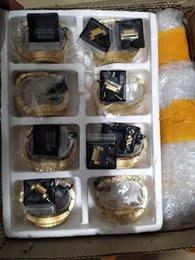 Wholesale Watch Water Proof - Christmas NX Mens 51-30 CHRONOGRAPH A083-502 A083502 all Gold Stainless-Steel Quartz Watch 51mm water proof Gold Dial Watch + original box
