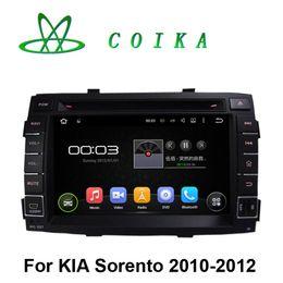 Wholesale Sorento Gps 3g - Quad Core Android 5.1.1 System Auto Stereo Car DVD For Kia Sorento 2010 2011 2012 GPS Navi Radio RDS BT Phonebook WIFI 3G 1024*600 Screen