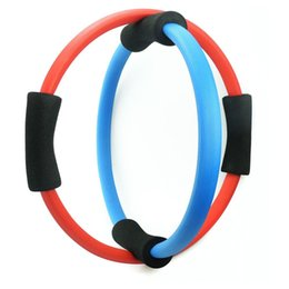 Wholesale Magic Circle Pilates Ring - Wholesale-Body Building Women Yoga Exercise Pilate Ring Gym Fitness Training Pilates Magic Yoga Circle Slimming Yoga Ring Tool