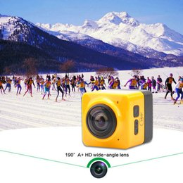 Wholesale Mini Camera Rechargeable - Mini CUBE 360 Action Camera Panoramic VR Camera 360-degree Build-in WiFi Camera H.264 1280*1042 Video Mini Camcorder with GVT100M DSP