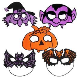 Wholesale Vampire Masks - Halloween Witch Vampire Mask Nightclub Bar KTV Environmental Pumpkin Spider Bats Face Mask G769