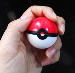 Wholesale Pokemon Boxes - Poke mon Food Grade Silicone Ball Container Jar for Dab Oil Dry Herb Wax Box Glass Bongs Accessories Grinder Glass Bowl is Available