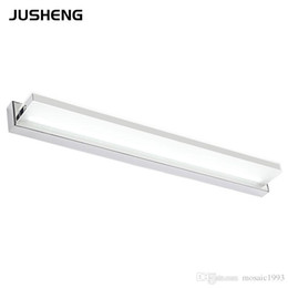 Wholesale Stainless Steel Mirror Cabinet - AC85-265V Mirror front light 7W 42cm led Acrylic modern stainless steel bathroom bedroom mirror cabinet lights wall lamp light