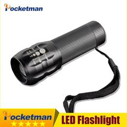 Wholesale Cree Led Torch Focus - Mini LED Torch 2000LM CREE Q5 LED Flashlight Adjustable Focus Zoom min led torch