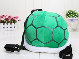 "Wholesale Mario Shell Backpack - 13.5"" 35cm Super Mario Bros Cournot Turtle Shell backpack one piece Turtle Shell backpack Plush Toy Doll support wholesale"