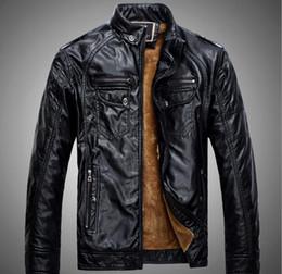 Wholesale Jacket Cuir Men Black - 2018 Fall Fashion Veste Cuir Homme Causal Jacket Men Blouson Turn down Collar jaqueta de couro Men Jacket Coats