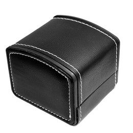 Wholesale Hold Watches - Wholesale-Vintage Single Wood& Leather Watch Box Storage Holder Case Holds Watches Gifts