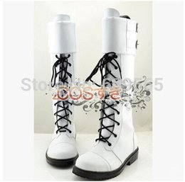 Wholesale Dramatical Murder Cosplay Costume - Wholesale-Free Shipping! Dramatical Murder Clear COSPLAY Boots COS Shoes White Boots